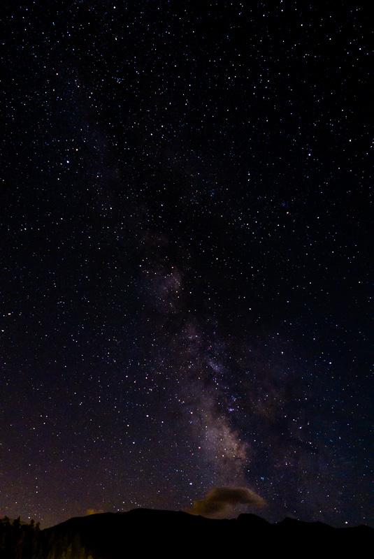 La voie lactée vue de notre premier camping au Colorado.