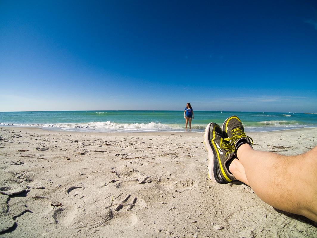 Très peu de course pendant le voyage en Floride au début janvier.