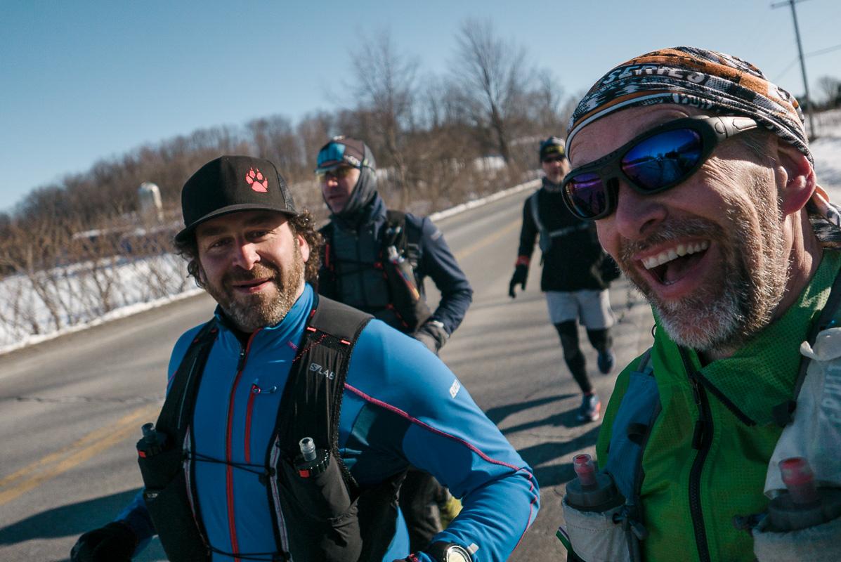 Trop content de courir avec mon ami Marc-André ce matin au Fat-