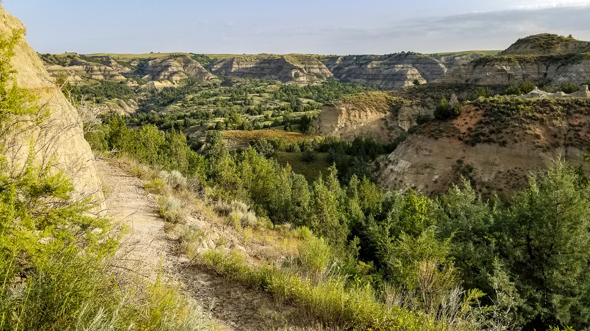 The beautiful Maah Daah Hey Trail, in North Dakota. I enjoyed (almost) every minute of it. :)