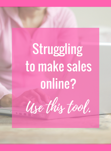 Struggling to make sales online? Use this tool that helps you 2 x your sales with less effort and complication. http://christineparma.com/blog/struggling-with-making-sales-online