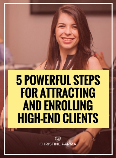 """If you're a """"transformational entrepreneur"""", such as a business and lifestyle coach, yoga instructor, healer, spiritual teacher, author, motivational speaker or personal growth trainer, you probably already know that serving high-end clients plays a key role in growing your business well into the six figures. Most transformational entrepreneurs use a one-on-one, dollars-per-hour service model and at some point, you max out on the number of clients you can serve in a week or month. Because your income is a result of the simple math of number of clients multiplied by the fee per client, increasing the fee per client is the only way to increase your income in the one-on-one model. That means you need at least some of your clients to be high-end if you want to generate more income.  What can you do to start attracting those highly desirable premium clients? In this article I walk you through five simple steps for attracting your right-and-perfect high-paying clients. Let's dive right in so you can start using these strategies right away.   http://christineparma.com/blog/5-steps-for-attracting-and-enrolling-high-end-clients   #entrepreneur #marketing #leads #sales #entrepreneurship #business #smallbusiness #homebasedbusiness #homebasedbiz #smallbiz #startup"""