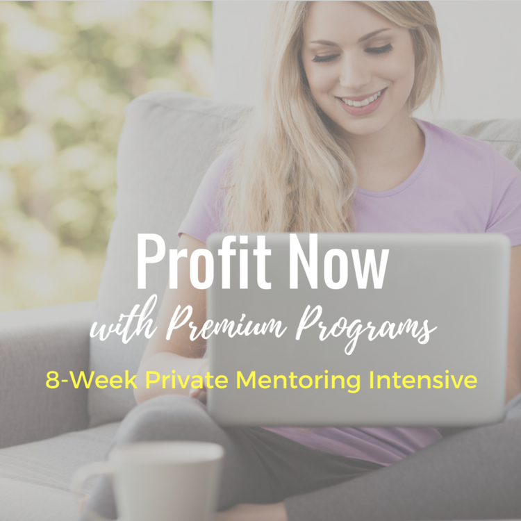 Stop running yourself ragged to earn way less than you deserve by serving private clients at low fees. It's time to package up your brilliance into your own signature system that gets clients get amazing results so you can charge more - and get it - with integrity and ease.   Profit Now with Premium Programs!