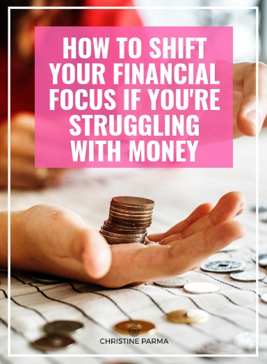 When you're in debt or struggling with money, it can nearly consume you. Your money struggles can become what you think about morning, noon and night. And while you need to be financially responsible by dealing with the negative situation you may be in, if you want to break free from a tough financial situation, you can't let it trap your focus to the point you aren't able to focus on  building prosperity .  So many people are so focused on reducing their debt and trying to save money that they give little positive attention to increasing their financial abundance, and, thus, the downward spiral continues. Here's how to shift your focus fast and finally turn things around.  http://christineparma.com/blog/shift-your-financial-focus