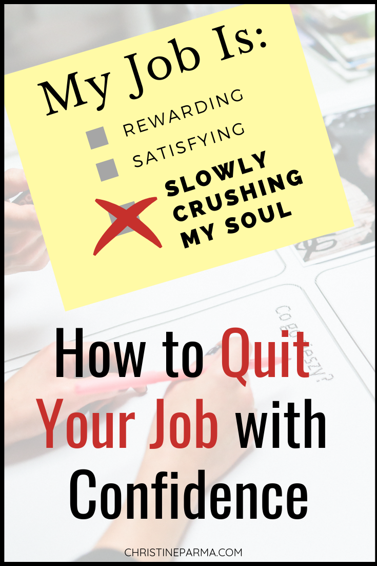 Are you feeling stuck in your career or you're wanting a career change? Learn how to decide if you should quit a job you hate and the five big fears that keep people from quitting a job. Here's how to overcome fears, change jobs and find work you love.  #career #careerchange #jobchange