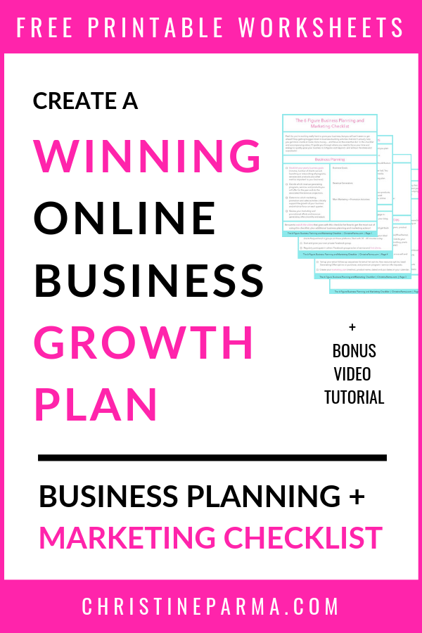 Discover the business planning + online marketing activities you need to grow to six-figure sales fast! Stop wasting time on things that don't help you get clients, create revenue streams or help you make money. In this checklist and video training, you'll learn what business growth strategies, planning steps and digital marketing strategies you need to focus on. #marketingtips #onlinebusiness #smallbusinesstips #businesstips #biztips #marketing #marketingstrategy #solopreneur #entrepreneur #startabusiness #startingabusiness #makemoneyonline #salestips #revenue #revenuestreams #businessplanning #businessgrowthstrategies #businessgrowth #businessstrategies #businessstrategy