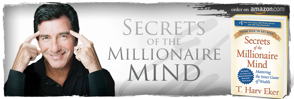 Harv Eker with book secrets of the millionaire mind