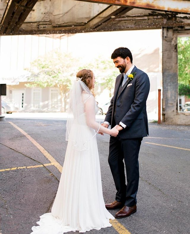 Looking pretty, even in an old abandoned parking garage. 🌹 . . . . #athensweddingphotographer #athensga #athensgaweddings