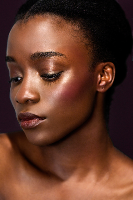 Model: Whitney Madueke Makeup: Maria Papadopoulou  Photography: Georgina Bolton-King