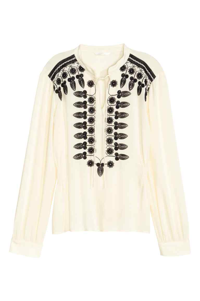 Embroidered blouse, H&M £29.99