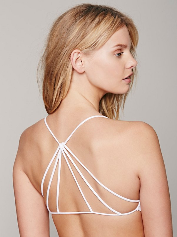 White Strappy Back Bra £18.00 Free People