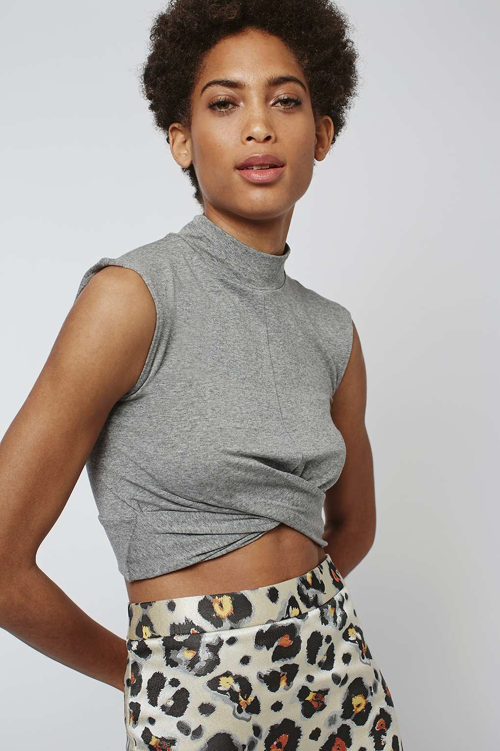 Twist Front Crop Tee £16.00, Top Shop