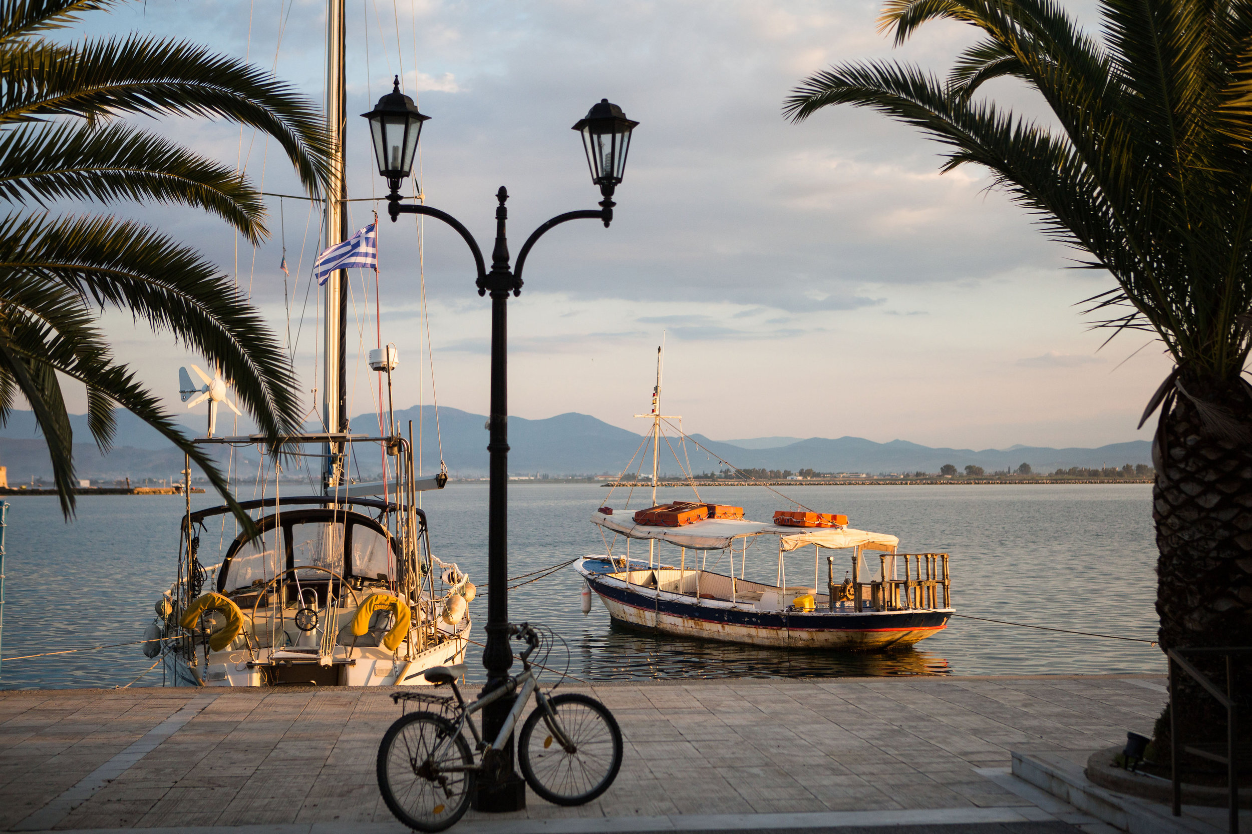 Outside your hotel in Nafplio