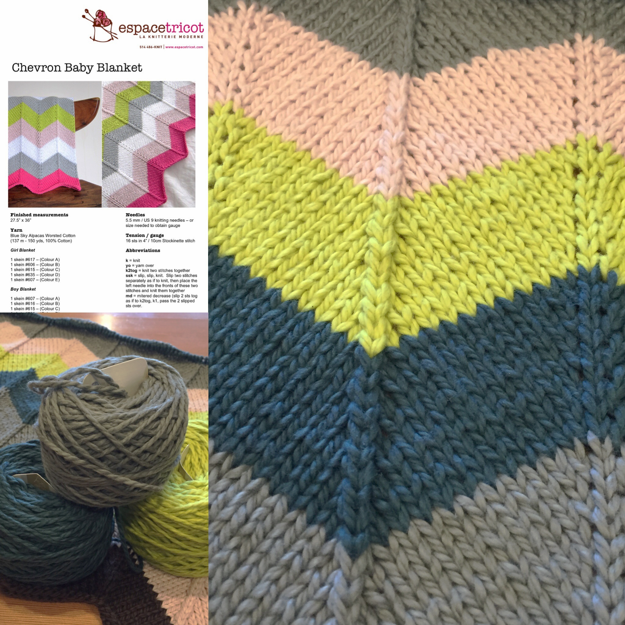 Melissa's Version of A Classic Baby Blanket Pattern
