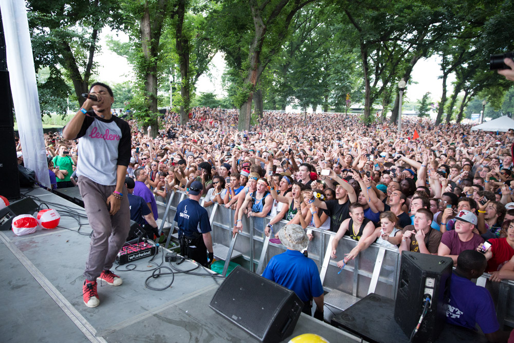 Chance The Rapper at the BMI Stage at Lollapalooza in 2013. Photo by Jack Edinger ( Source )