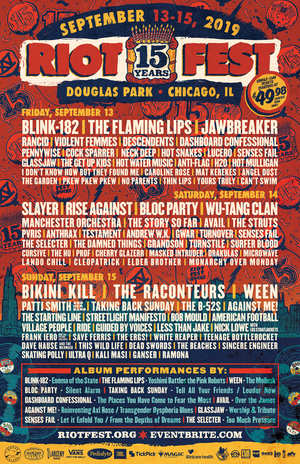 Flyer provided by Riot Fest