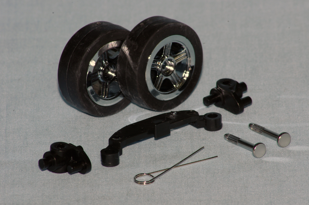 Front wheel and steering linkage