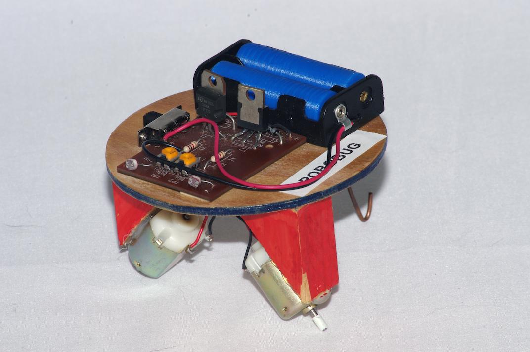 Robobug small light sensing robot