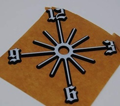 NUMERALS - PARTIAL SUNBURSTS - OLD ENGLISH - Code: NUMSUNOESet of Part Sunbursts - Old English. Gold. Size: 75mm, 100mm or 125mm.LIMITED EDITION