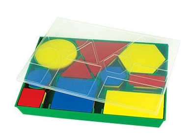 ATTRIBUTE BLOCKS - DESK SET - Code: LER1270Price: $20.0060 piece set. Includes: Tracing template, coloured storage tray, 5 shapes with different attributes in colour, size & thickness· Suitable ages: 5+(Product supplied may vary slightly from illustration).