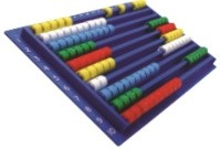 SLIDE ABACUS - Code: IP-132059Price: $25.00· Invicta traditional slide abacus with beads in 5 colours; Horizontal and vertical number scales· 23cm x 15cm x 2cm