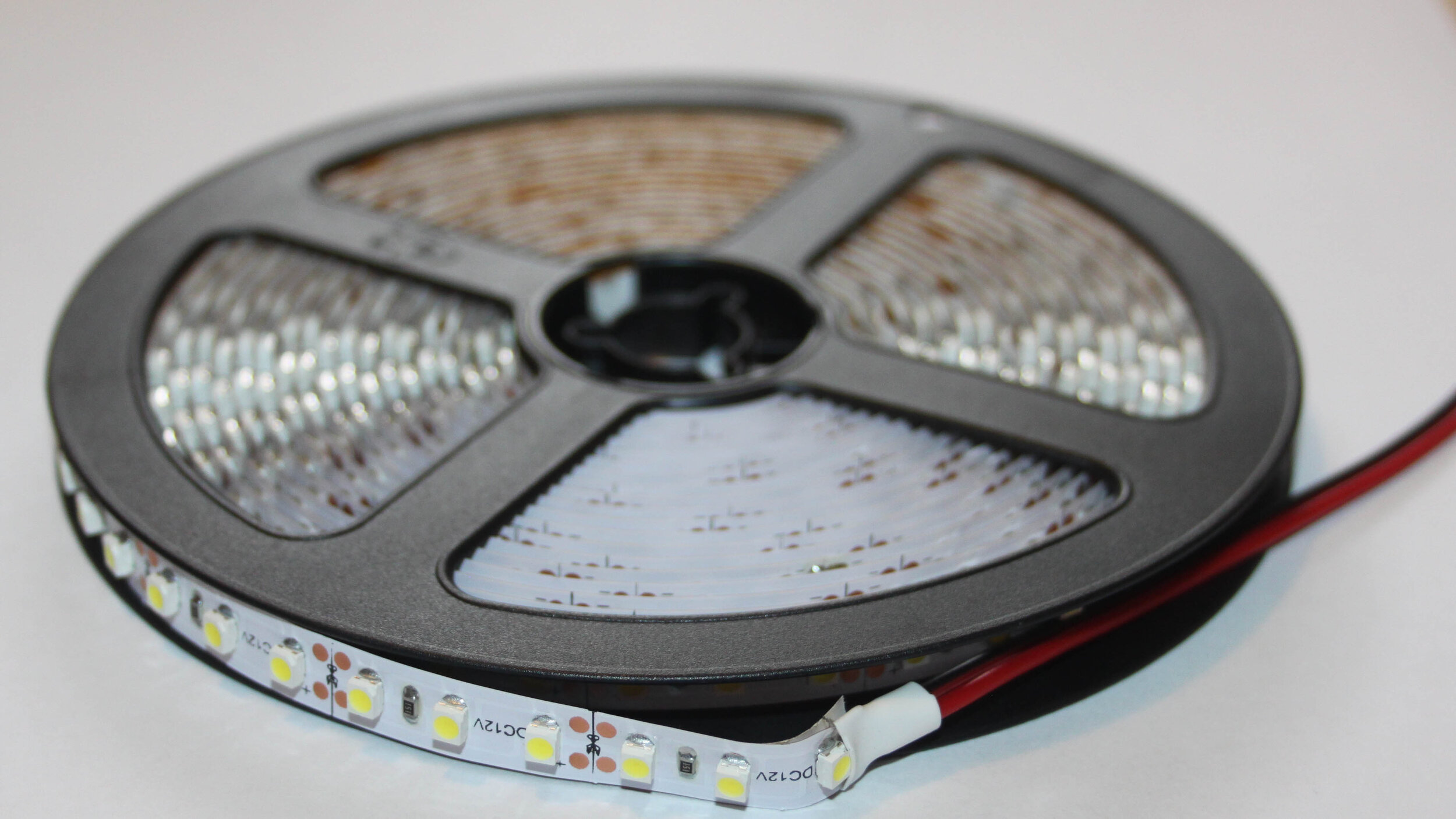 LED FLEXIBLE STRIP LIGHTING - Code: LEDSTRWarm white indoor LEDs; 120 LEDs per metrePeel and stick backing. Can be cut every 25mm (3 LEDs).Price: $5.67 (1 metre); $23.18 (5 metre roll)