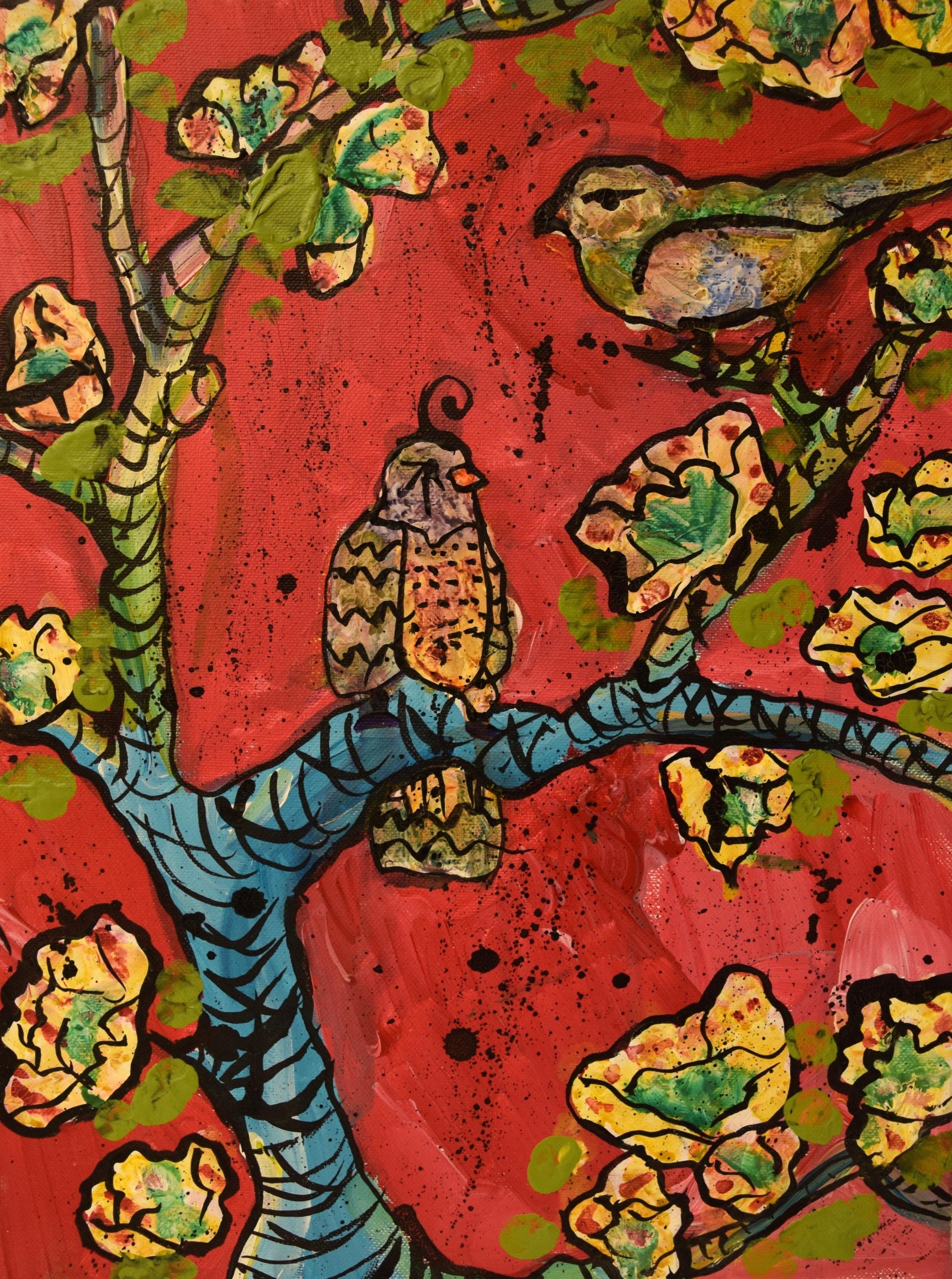 "Birds/ Mixed Media on Canvas/ 12x16""/ July 2012"