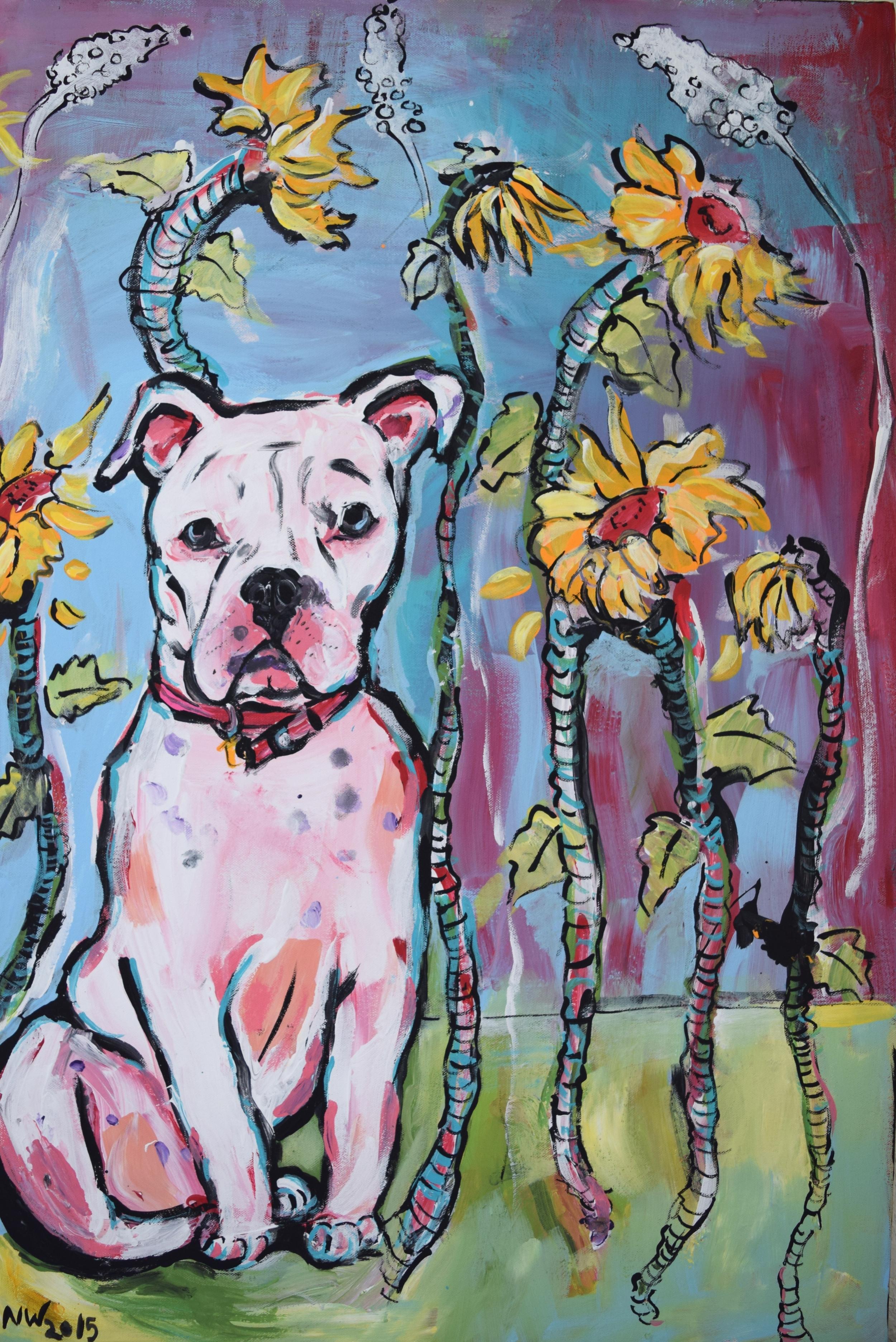 "Libby/ Acrylic on Canvas/ 24x36"" /January 2015 (SOLD)"