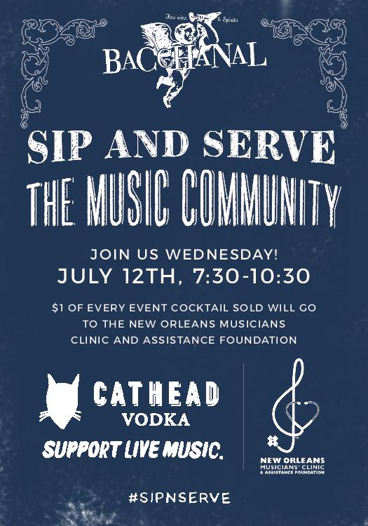 The  Cathead  /  NOMAF  Partnership works to p  rovide comprehensive medical care, p  romote community wellness through programming and education and a  ide in social services.    Join us for specialty cocktails, naughty nurses, and a music set by  Jesse Morrow !