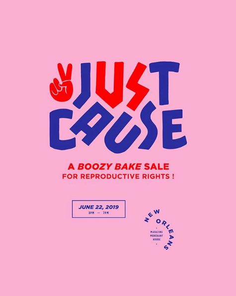 Join Bacchanal's pastry chef, Bronwen Wyatt along with over 50 New Orleans chefs for 'Just Caust - a Boozy Bake Sale for Reproductive Rights' - more info here.