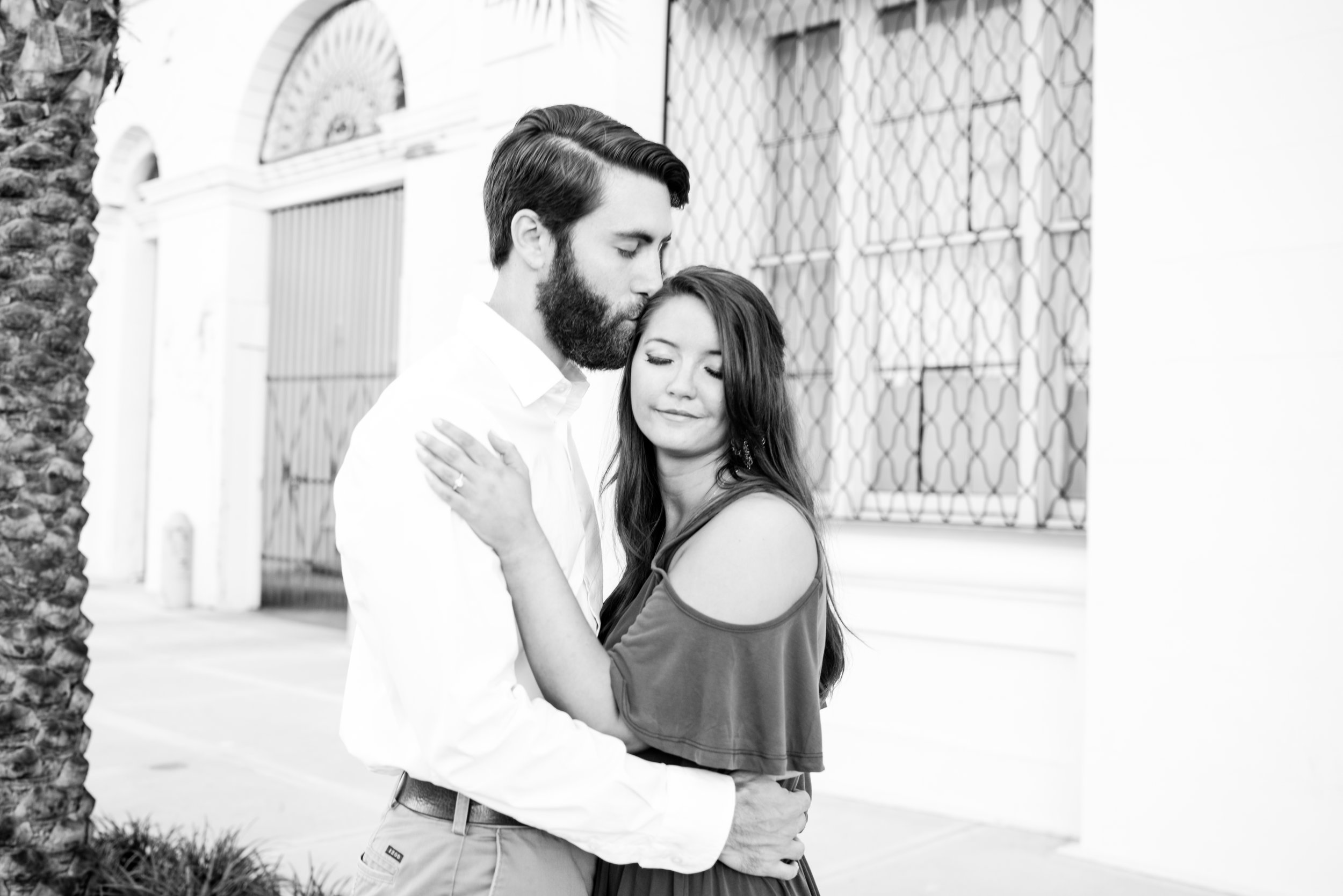 Stephanie and Ryan Engaged Downtown Mobile Alabama