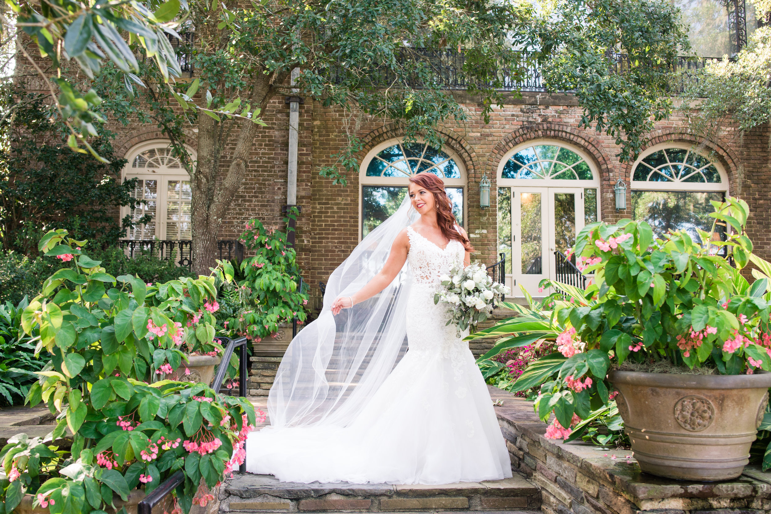 Ariel Bridal Portraits Bellingrath Gardens Mobile Alabama