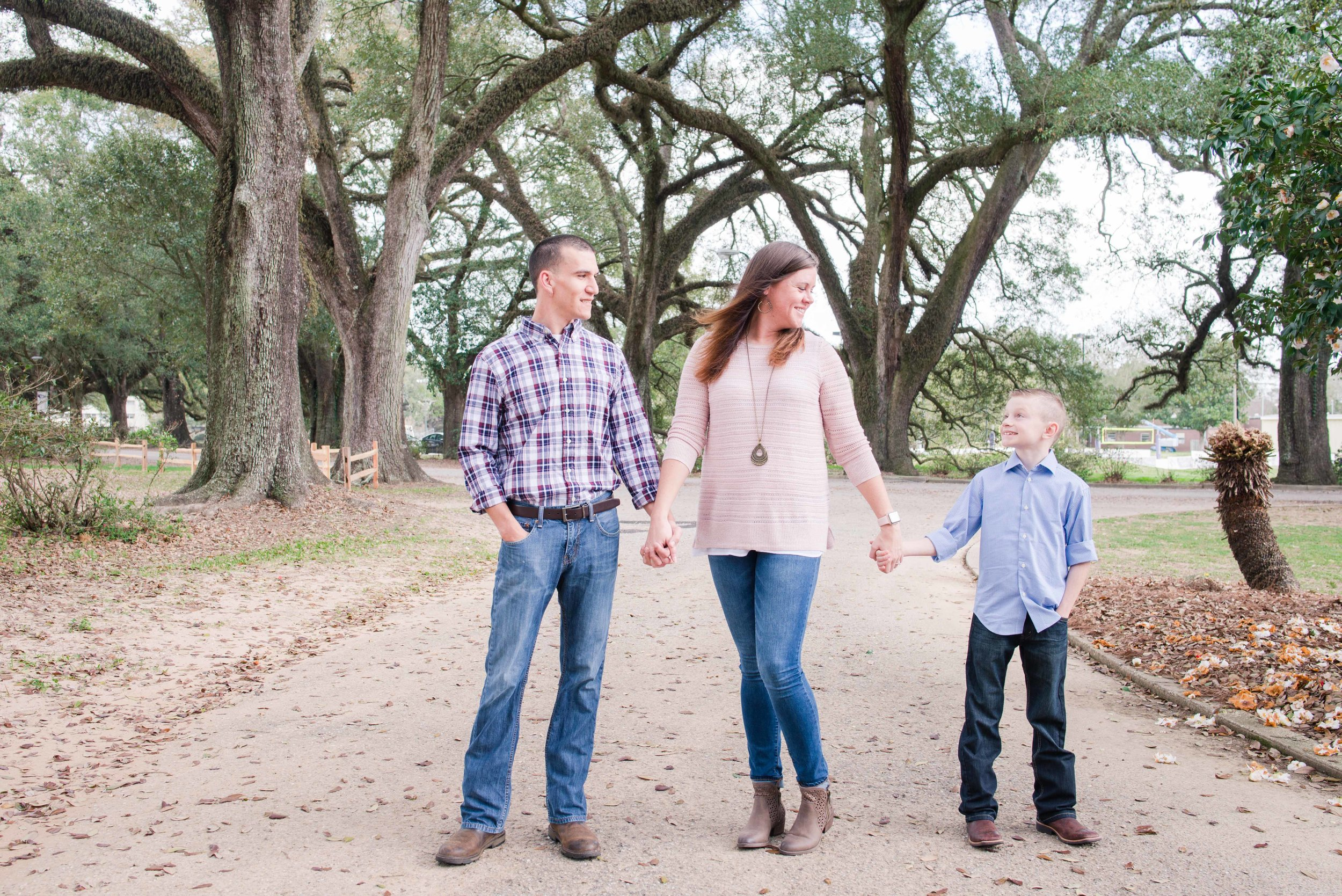 Cassie and Logan Engagement Session Springhill College Mobile Alabama