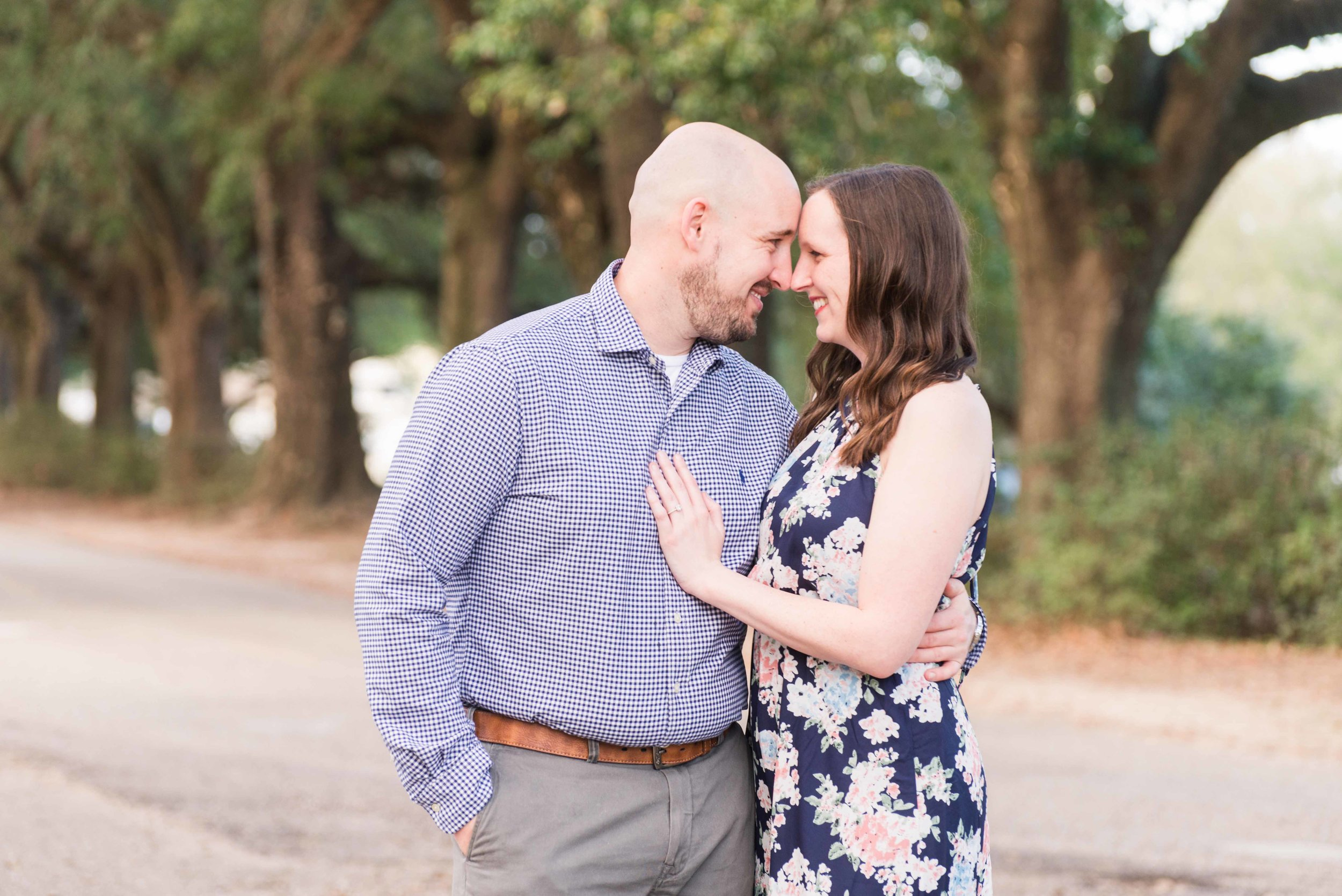 Haley and Howard Springhill College Mobile Alabama Spring Engagement