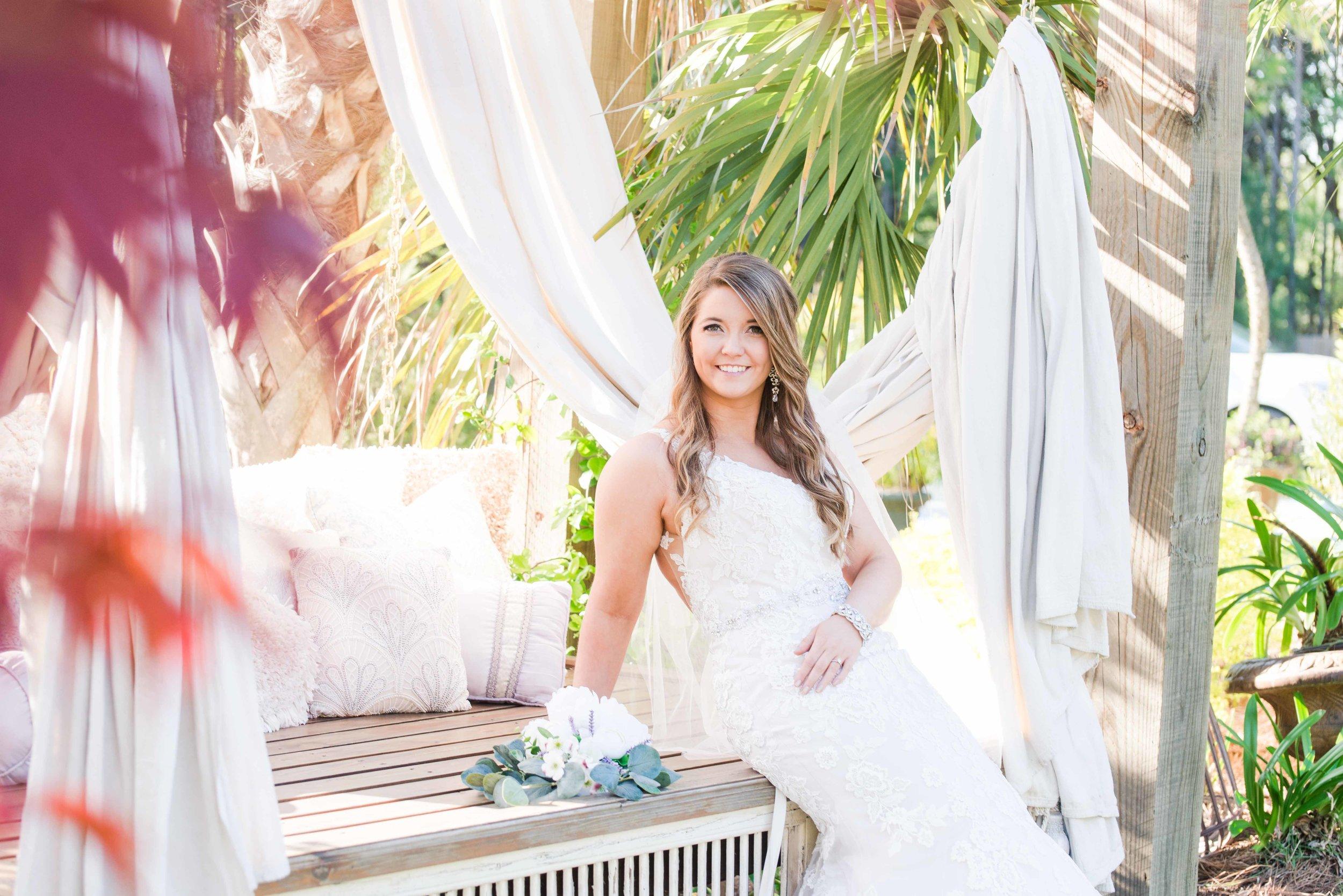 Stephanie Bridal Session Spring Wedding