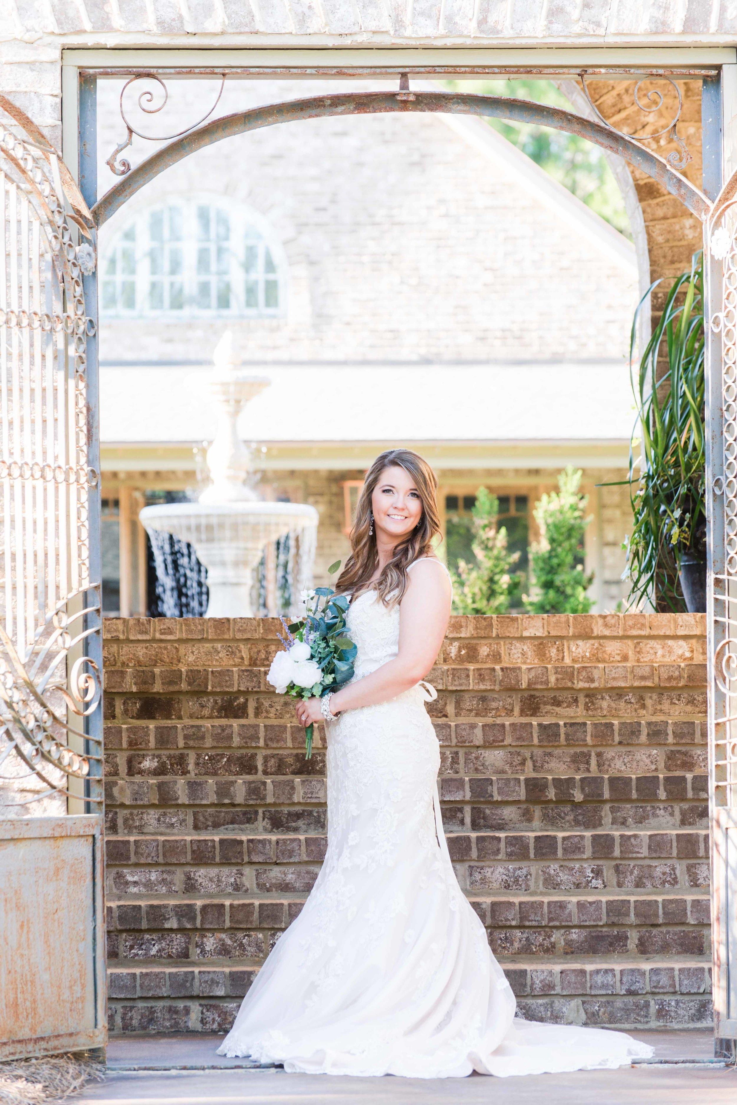 Bella Sera Gardens Bridal Session Gulf Coast Bride