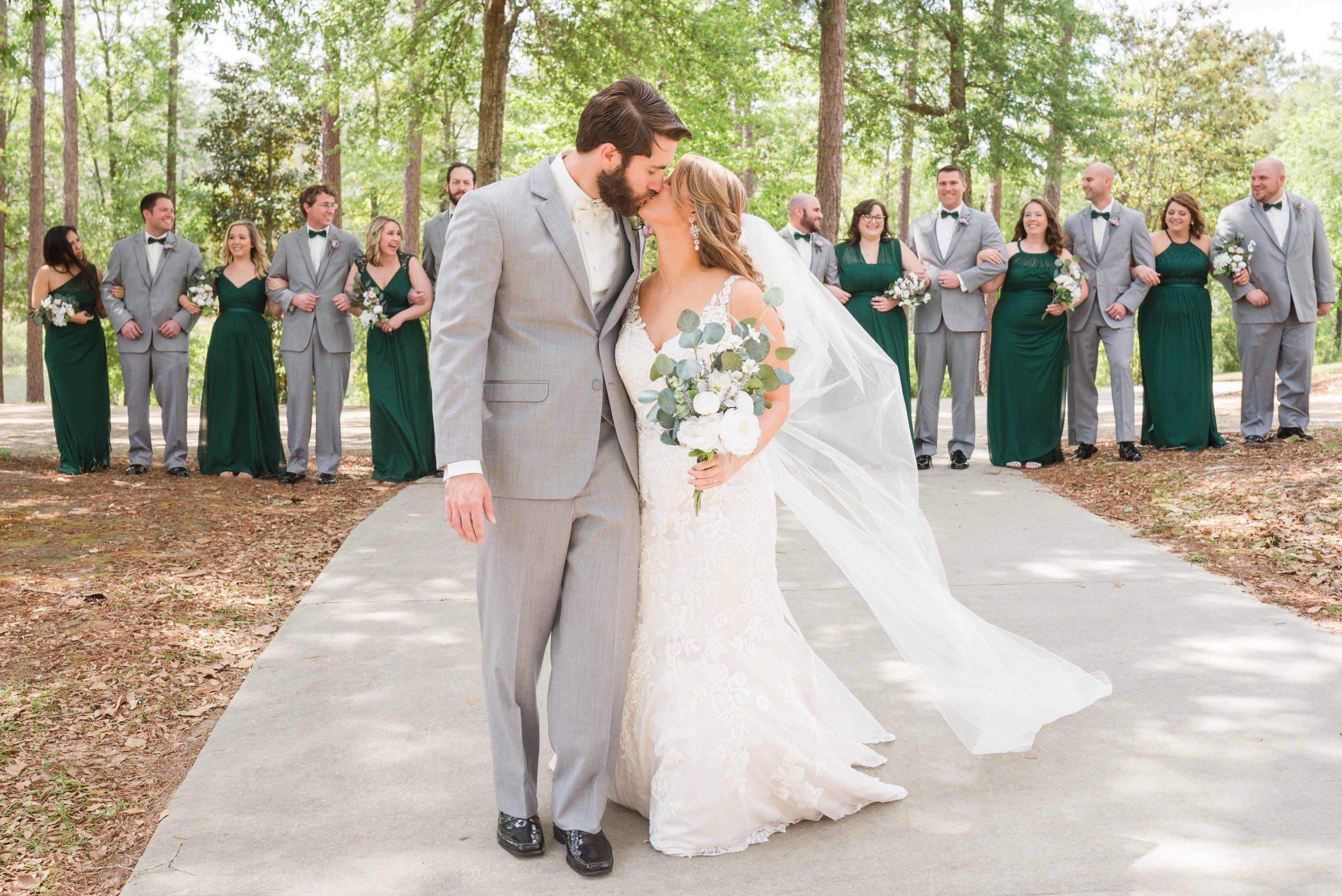 April Wedding Bridal Party Alabama Weddings Deborah Michelle Photography