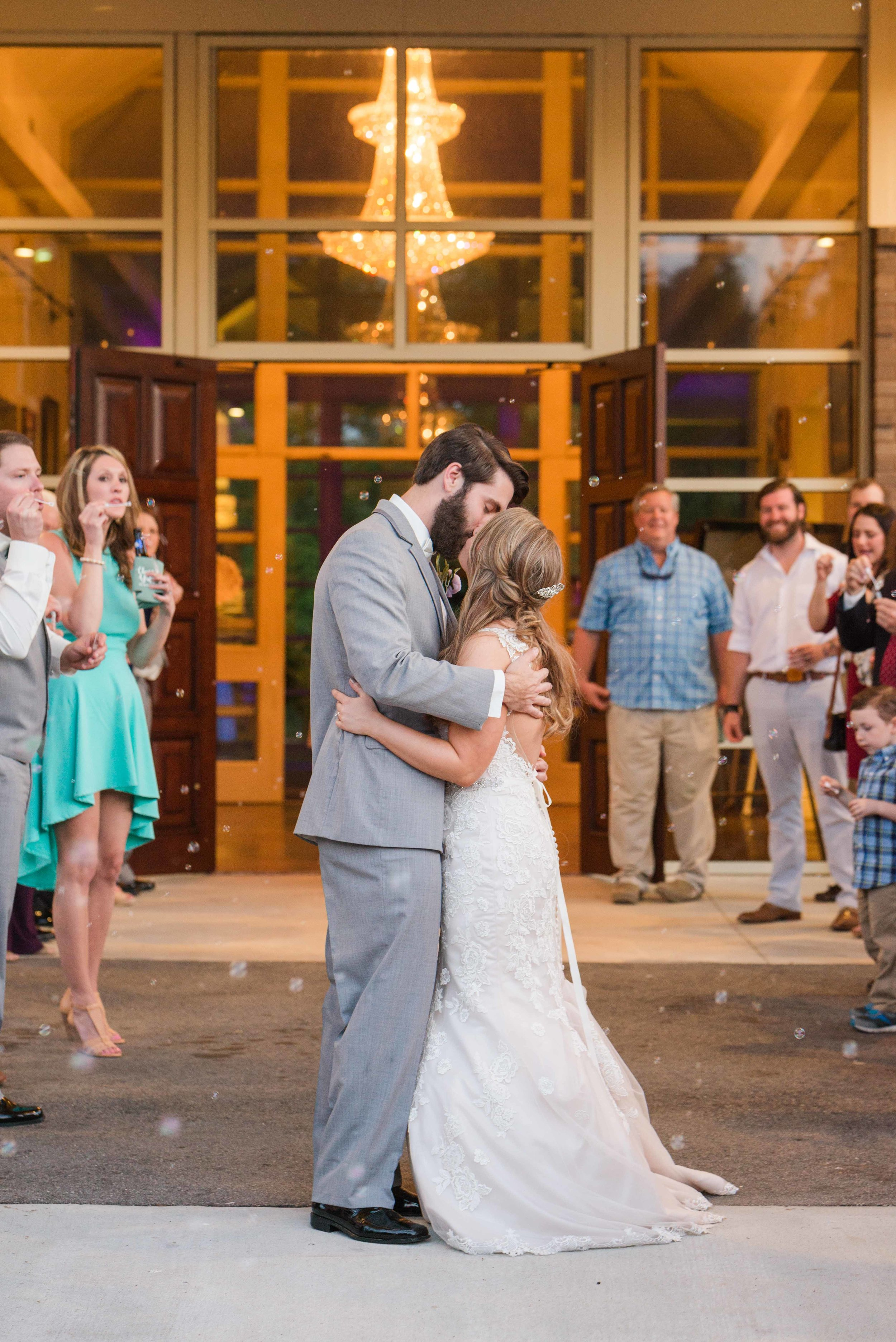 Bubble Reception Exit Mobile Alabama Wedding Deborah Michelle Photography
