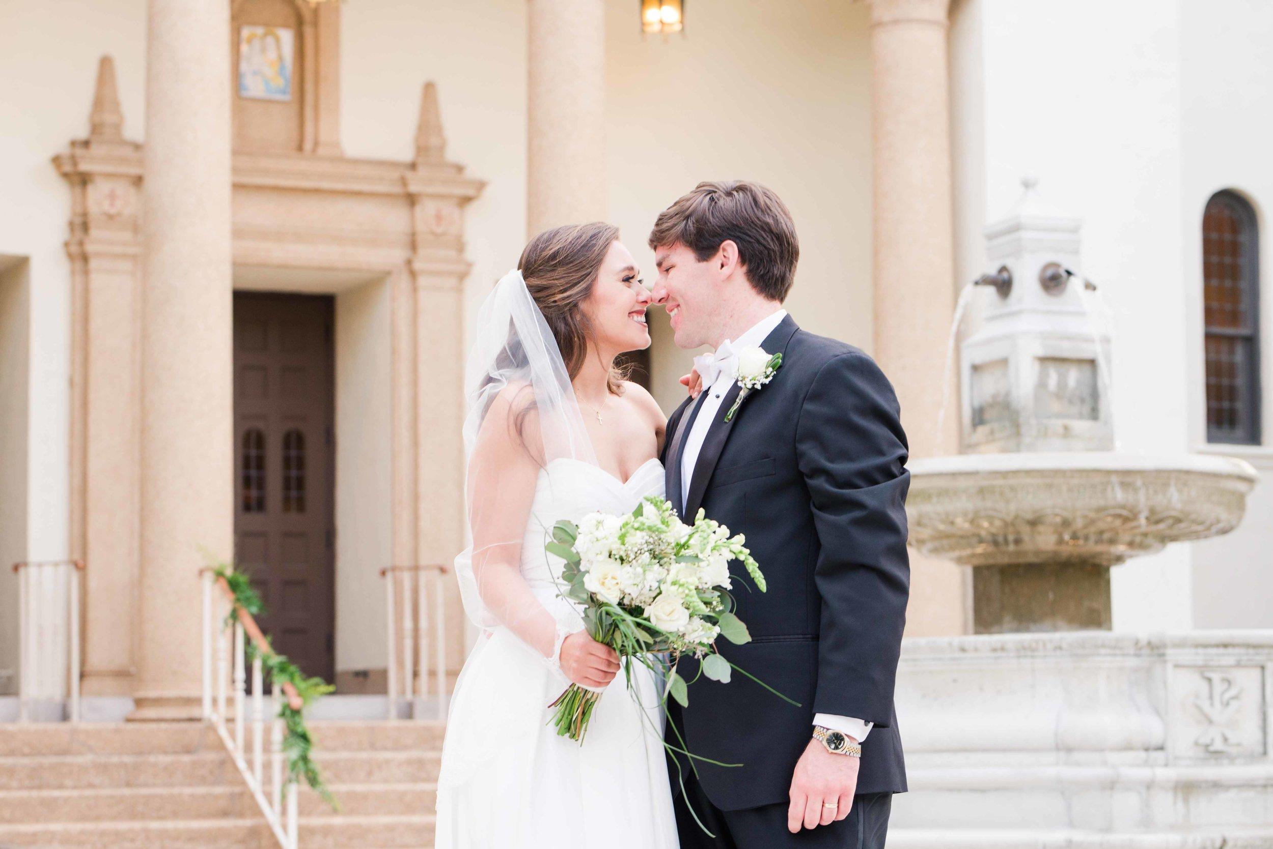 Christy and Tyler Mobile, Alabama May Wedding St. Mary's Catholic Church