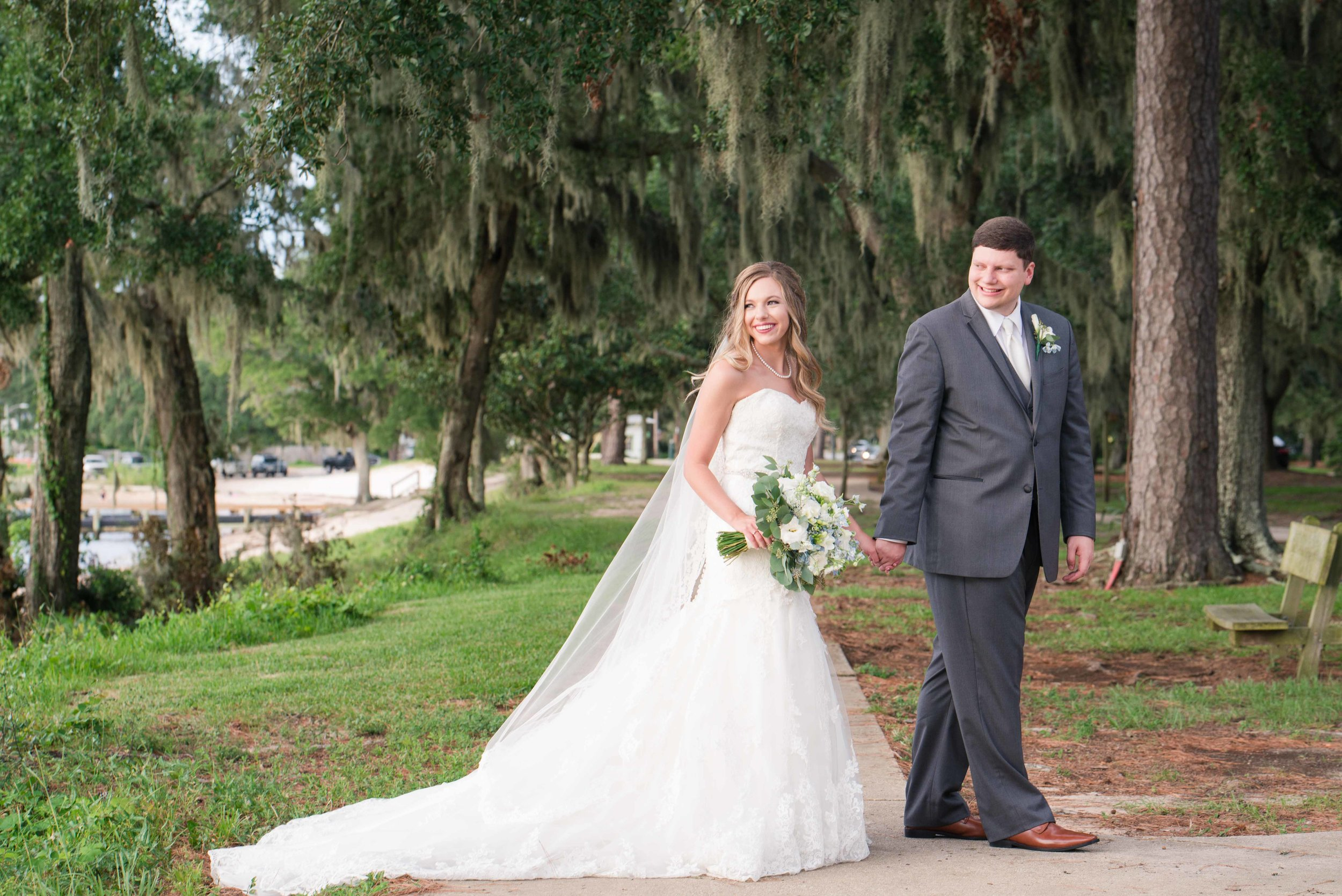 Tori and Trey Huggins Fairhope Alabama Wedding Deborah Michelle Photography