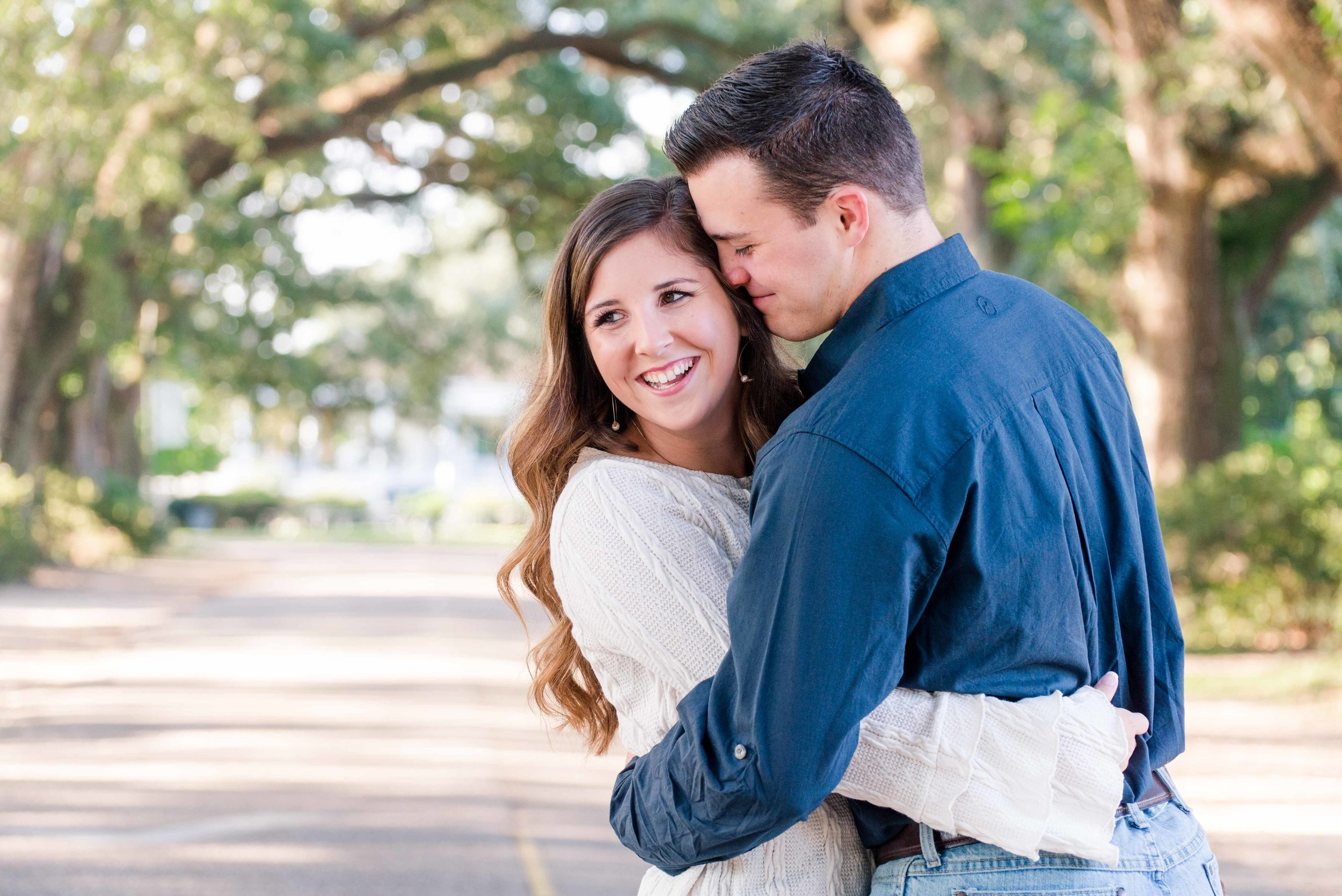 Springhill College Engagement Session Mobile Alabama Shelby and Bryan