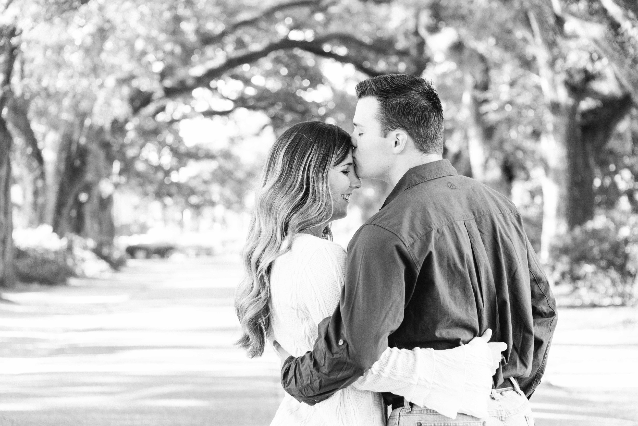 Springhill College Engagement Session Mobile Alabama Shelby and Bryan Avenue of Oaks