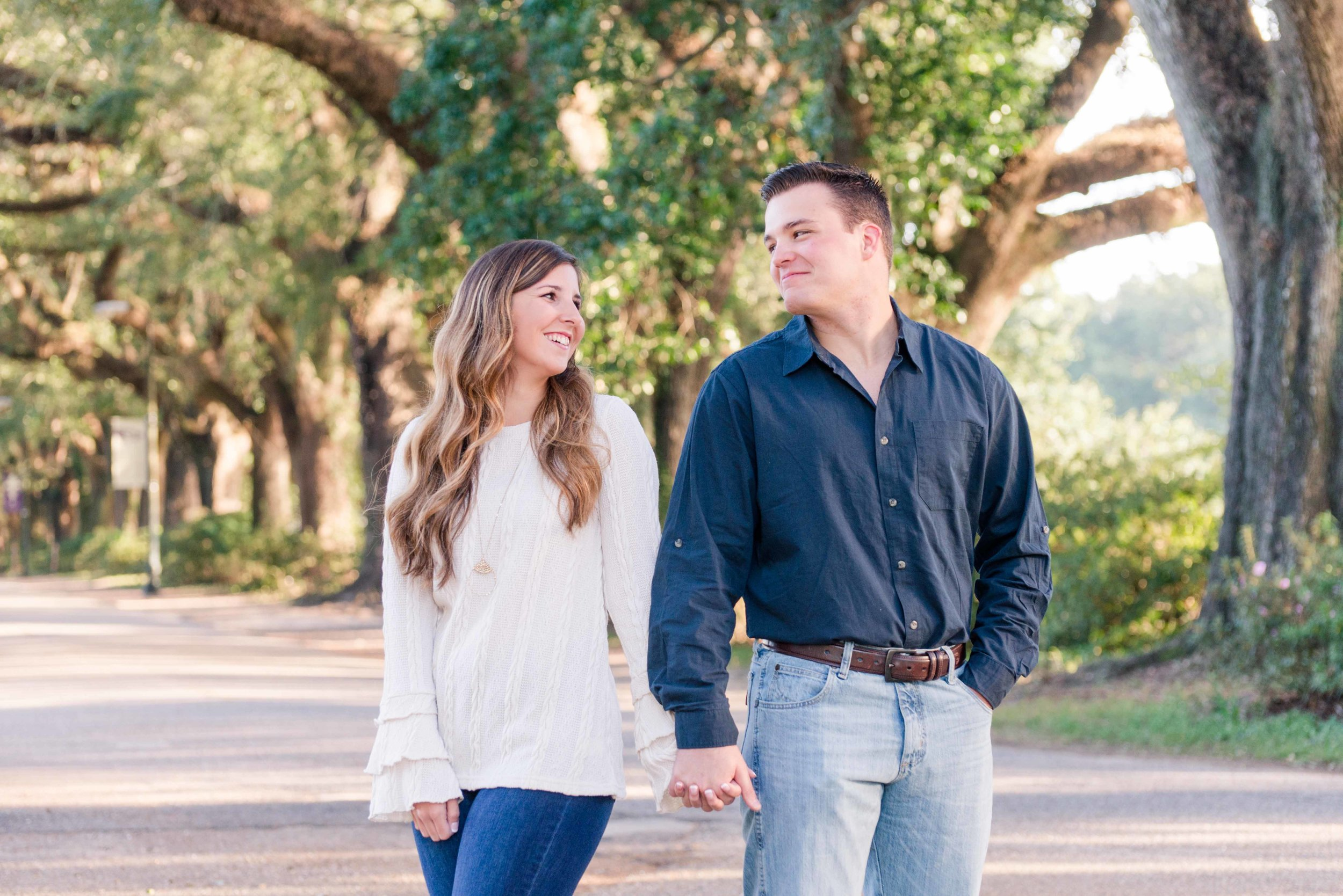 Avenue of Oaks Engagement Session Mobile Alabama Shelby and Bryan