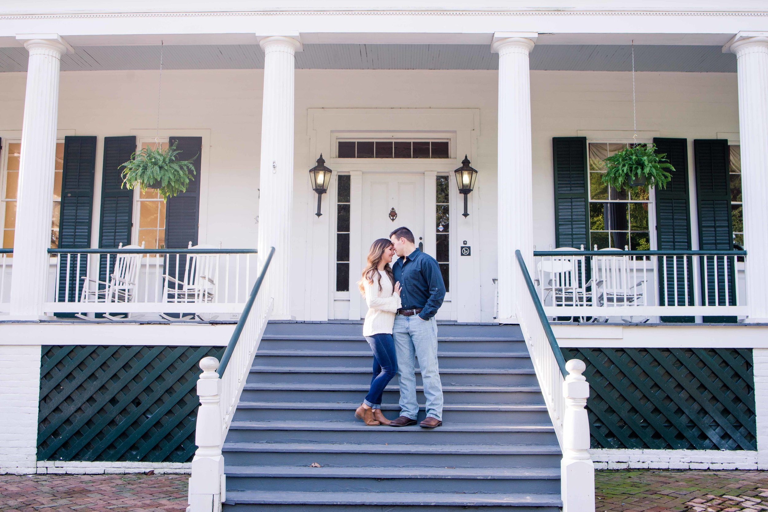 Springhill College Engagement Session Mobile Alabama Shelby and Bryan Deborah Michelle Photography