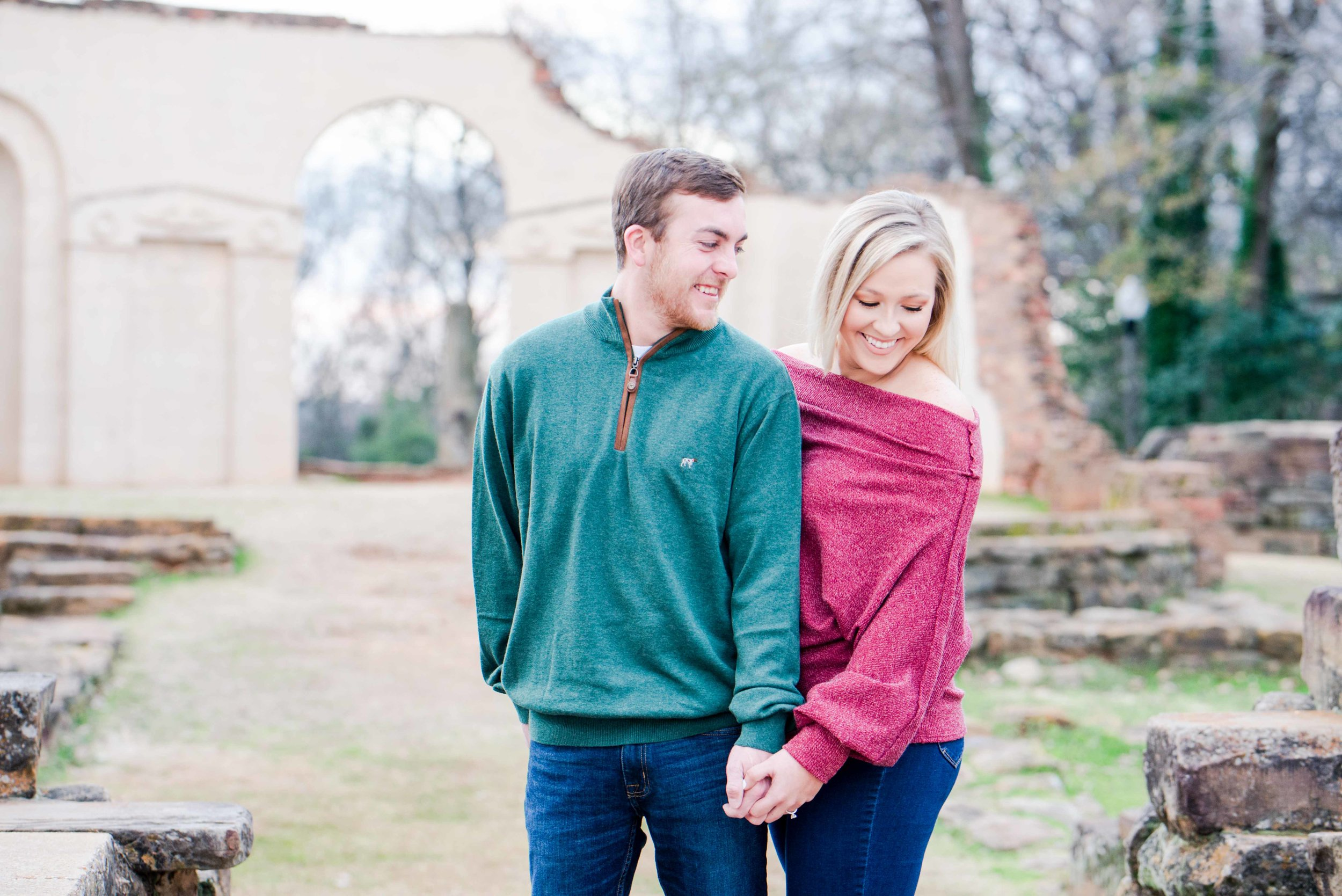 Deborah Michelle Photography Tuscaloosa Alabama Engagement Session Anna and Adam Capital Park