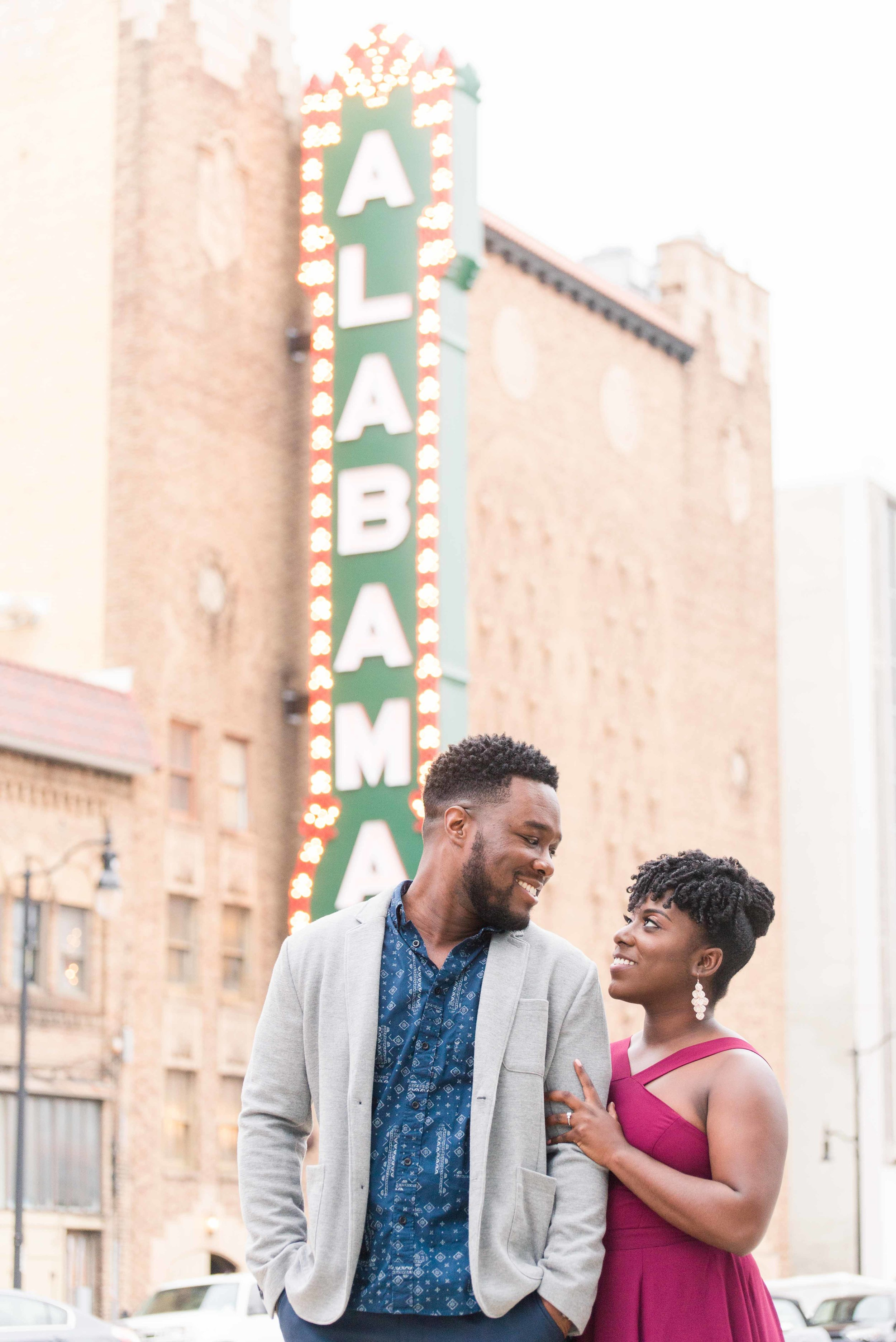 Deborah Michelle Photography Alabama Theater Birmingham Alabama Engagement Session