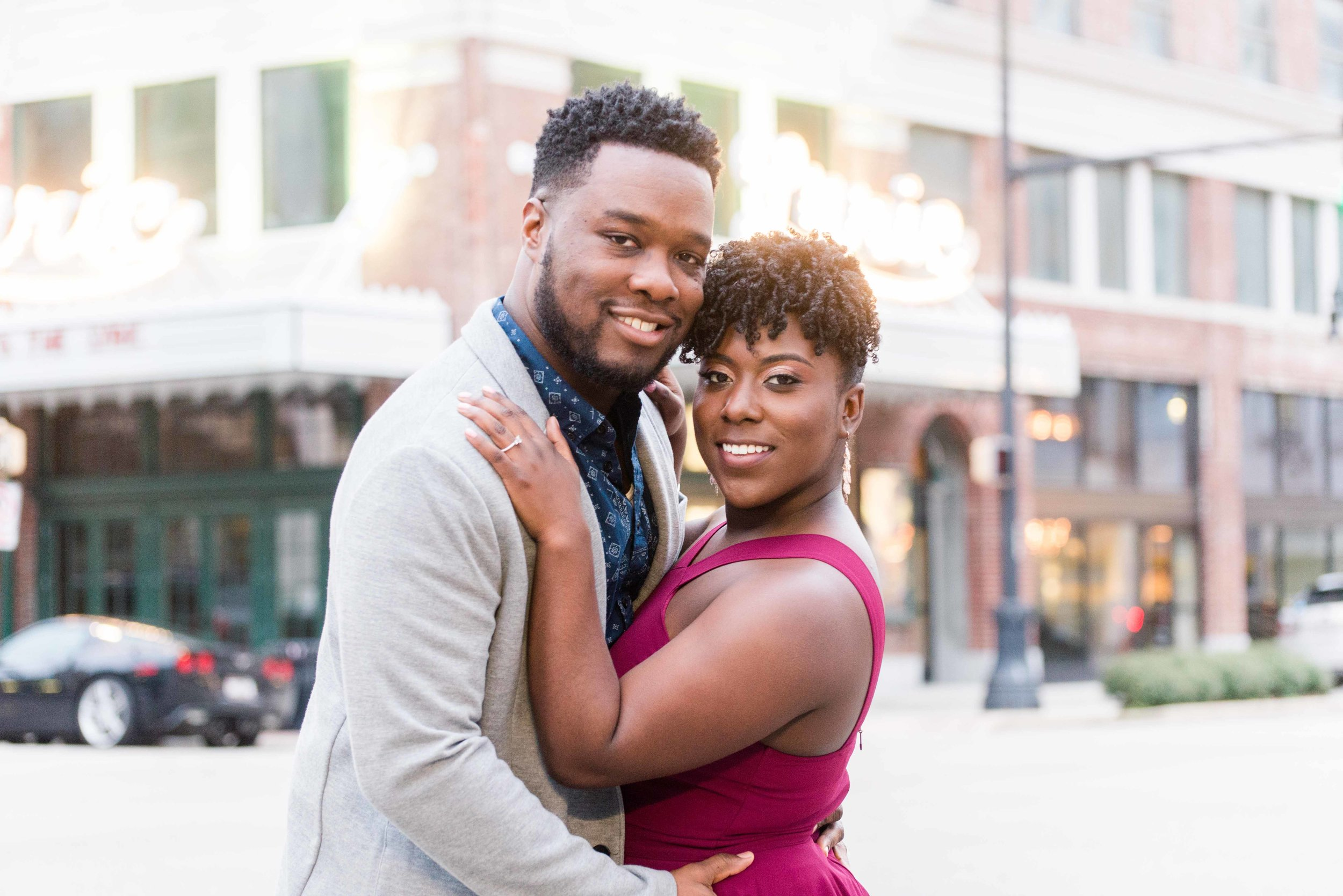 Deborah Michelle Photography Downtown Birmingham Alabama Engagement Session