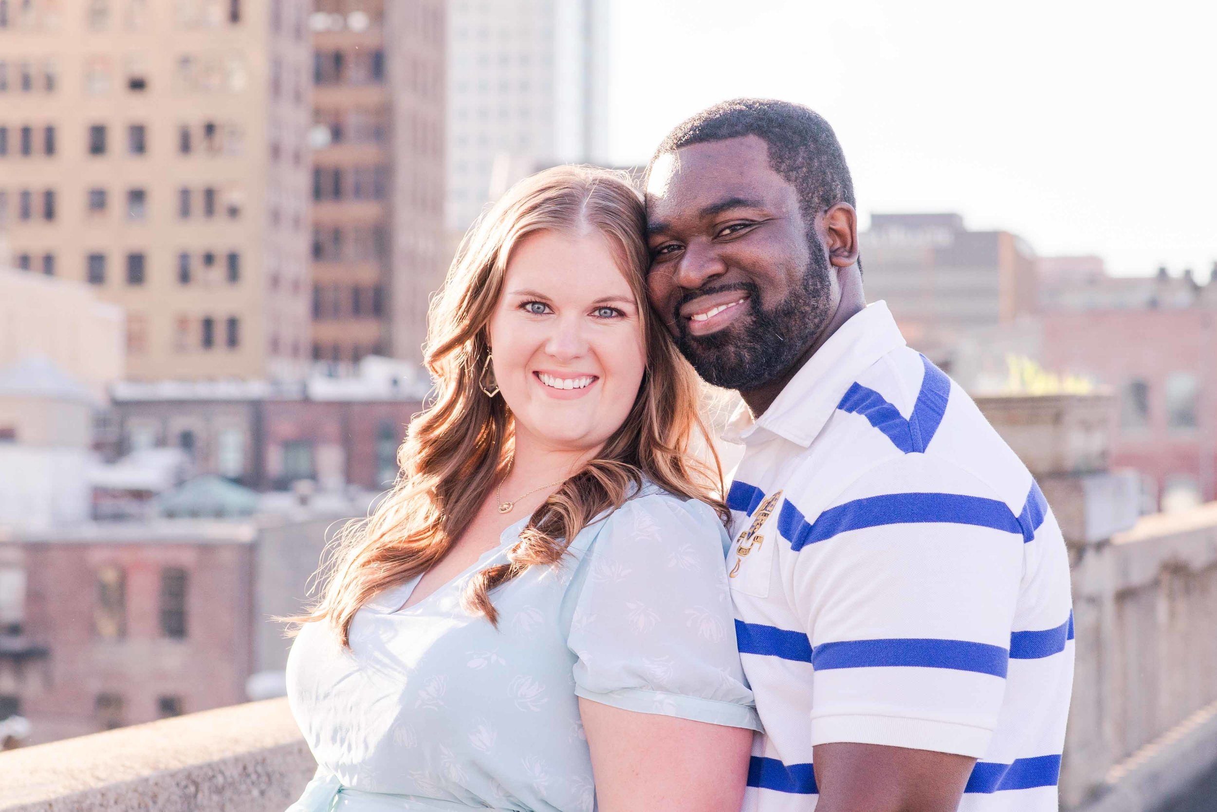Downtown Birmingham Engagement Session Jen & Stanley