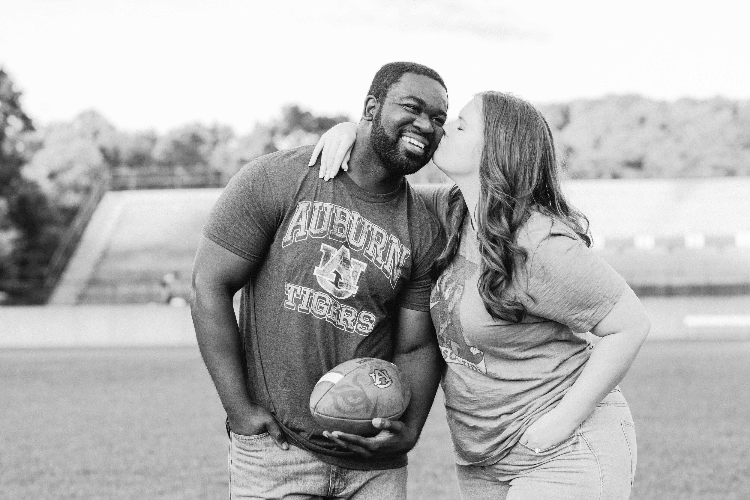 Jen & Stanley Birmingham Engagement Session Auburn Football