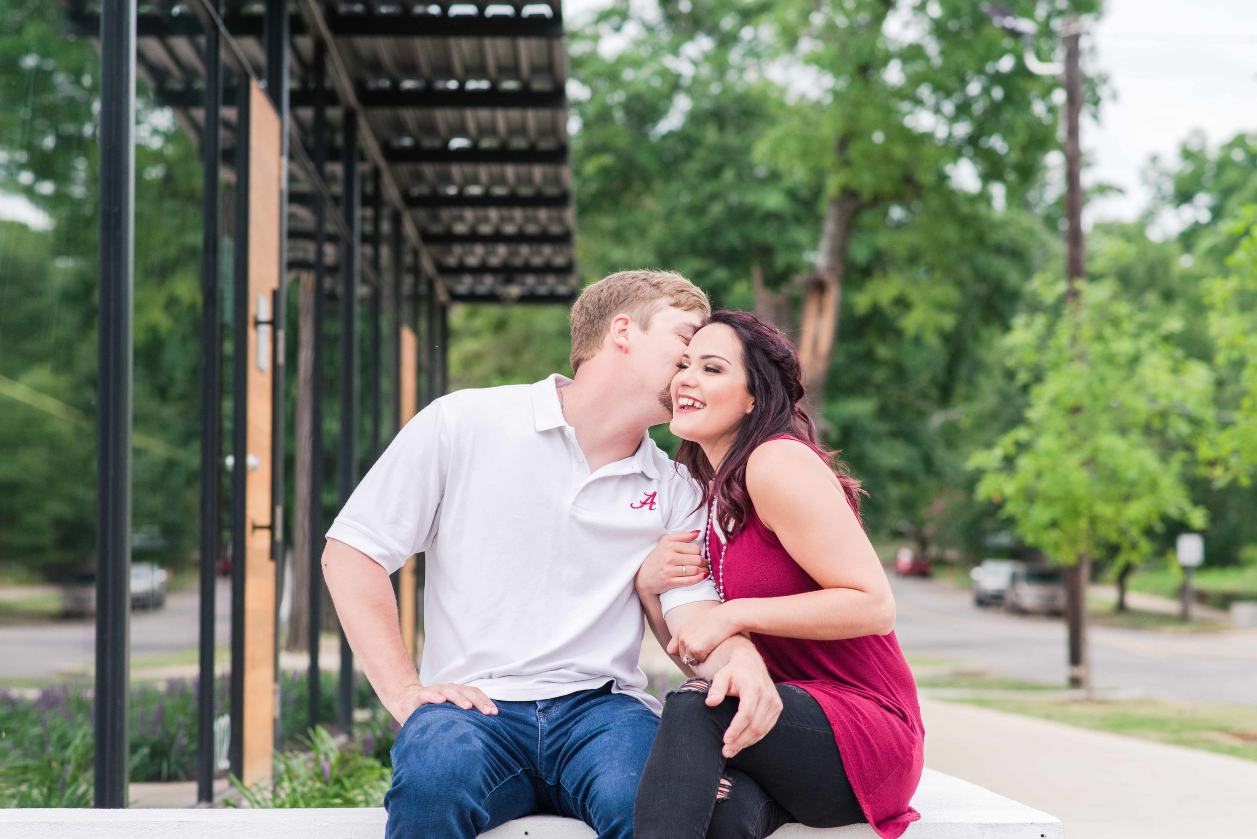 Avondale Engagement Portrait Session Birmingham Alabama Deborah Michelle Photography